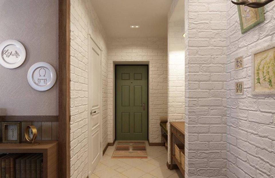 Ровный потолок в длинном коридоре