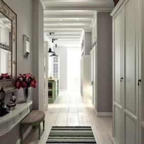длинный узкий коридор в квартире дизайн идеи