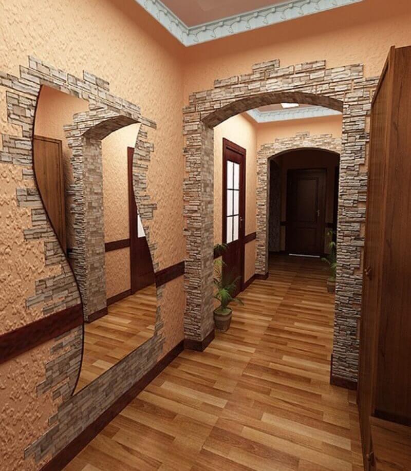 Отделка балконов внутри фото под камень