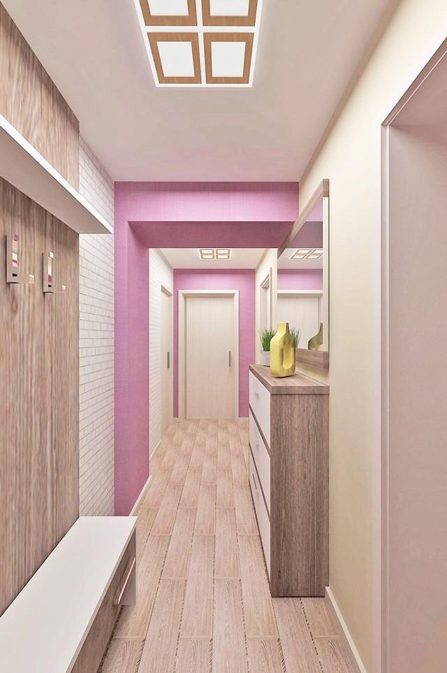 длинный коридор в квартире идеи