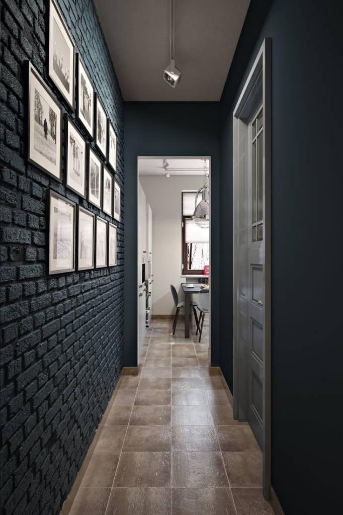 длинный коридор в квартире идеи дизайна