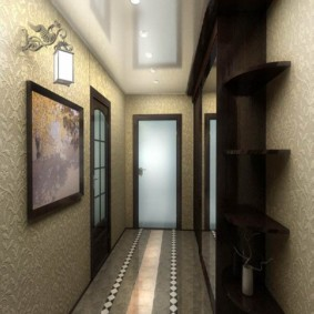 длинный узкий коридор в квартире интерьер фото