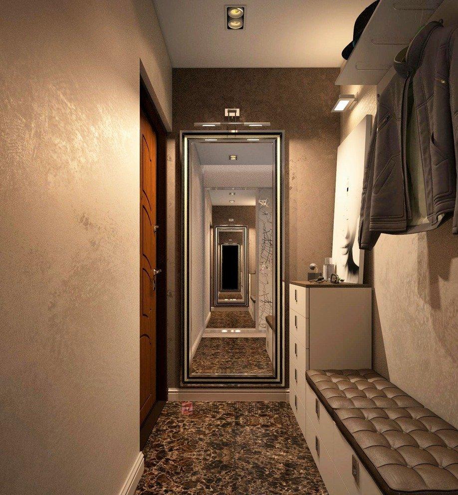 Дизайн узкой прихожей в квартире фото реальные