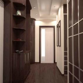 длинный узкий коридор в квартире дизайн фото