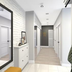 узкий коридор в квартире фото интерьер