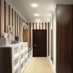 длинный узкий коридор в квартире фото идеи