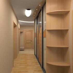 длинный узкий коридор в квартире фото интерьер