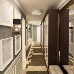 узкий коридор в квартире оформление фото