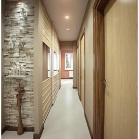 узкий коридор в квартире фото оформление