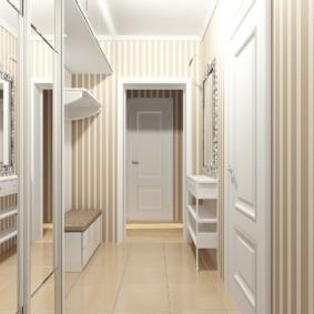 длинный узкий коридор в квартире идеи дизайна