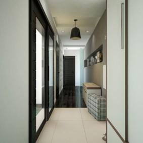 длинный узкий коридор в квартире идеи фото