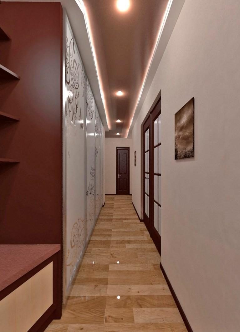 натяжной потолок в узкой прихожей дизайн фото определитесь примерным
