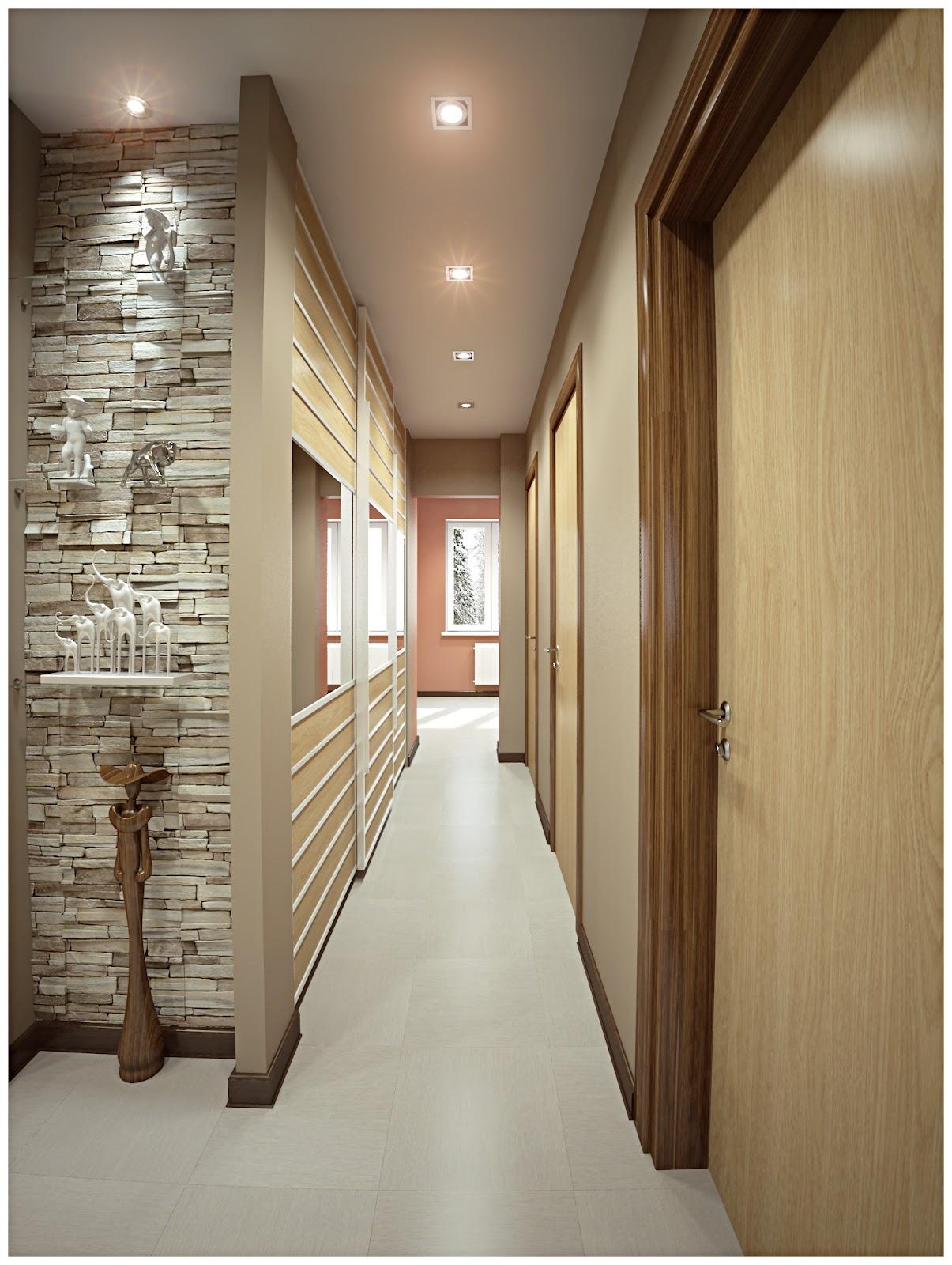 дизайн длинного узкого коридора в квартире фото меня