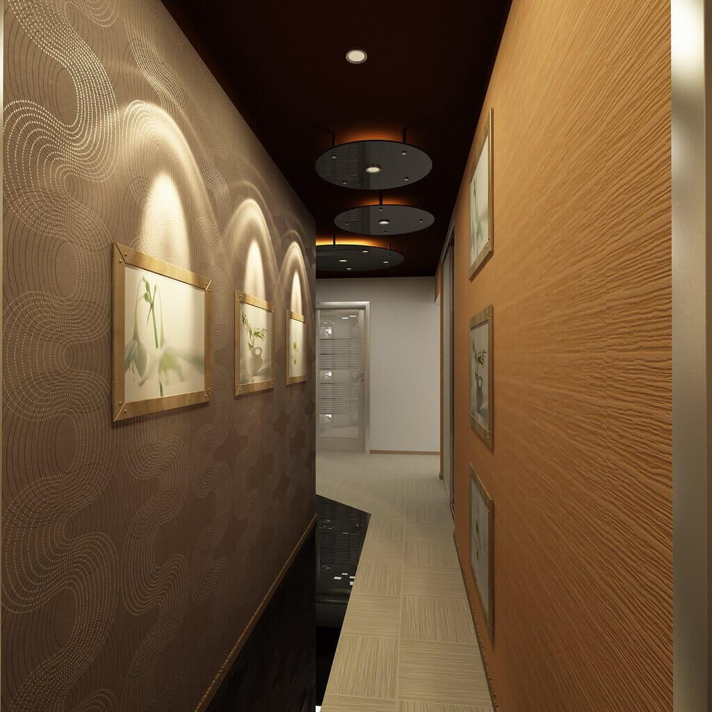 длинный узкий коридор в квартире панельного дома