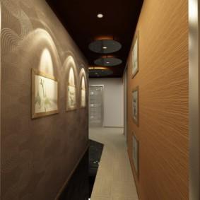 длинный узкий коридор в квартире интерьер идеи