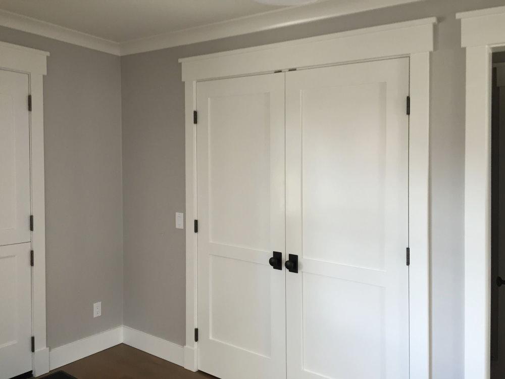 Белые межкомнатные двери с черной фурнитурой