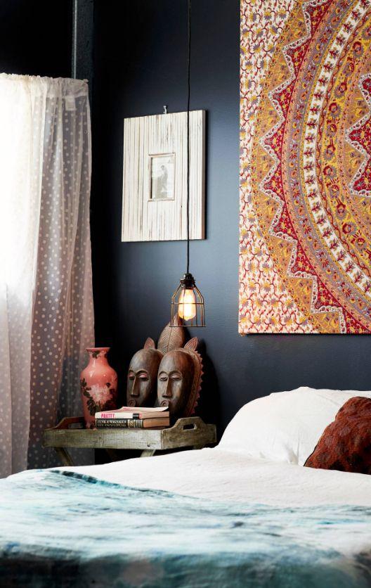 Декор картиной спальни в африканском стиле