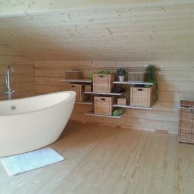 Обшивка вагонкой стен и потолка ванной