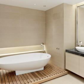 Ровные стены в ванной комнате