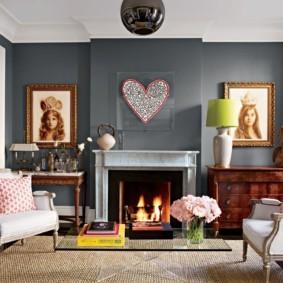 Декор картинами гостиной в квартире