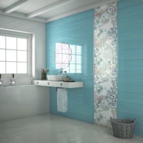 Голубой цвет в интерьере ванной