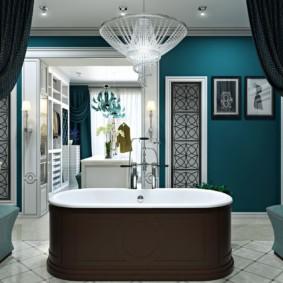 Коричневый цвет в дизайне ванной