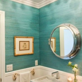 Зеркало для ванной в морском стиле