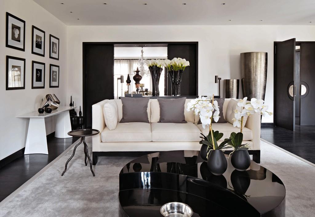 Черно белые фото в интерьере гостиной первоклашек лучше