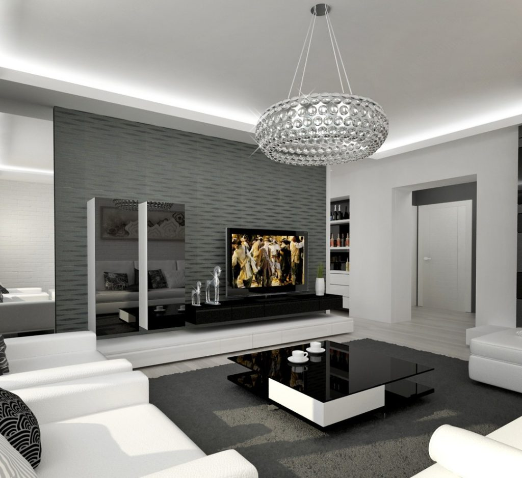 Черно белые фото в интерьере гостиной тот