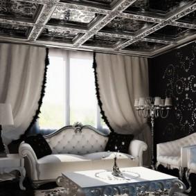 Небольшая гостиная в стиле арт деко
