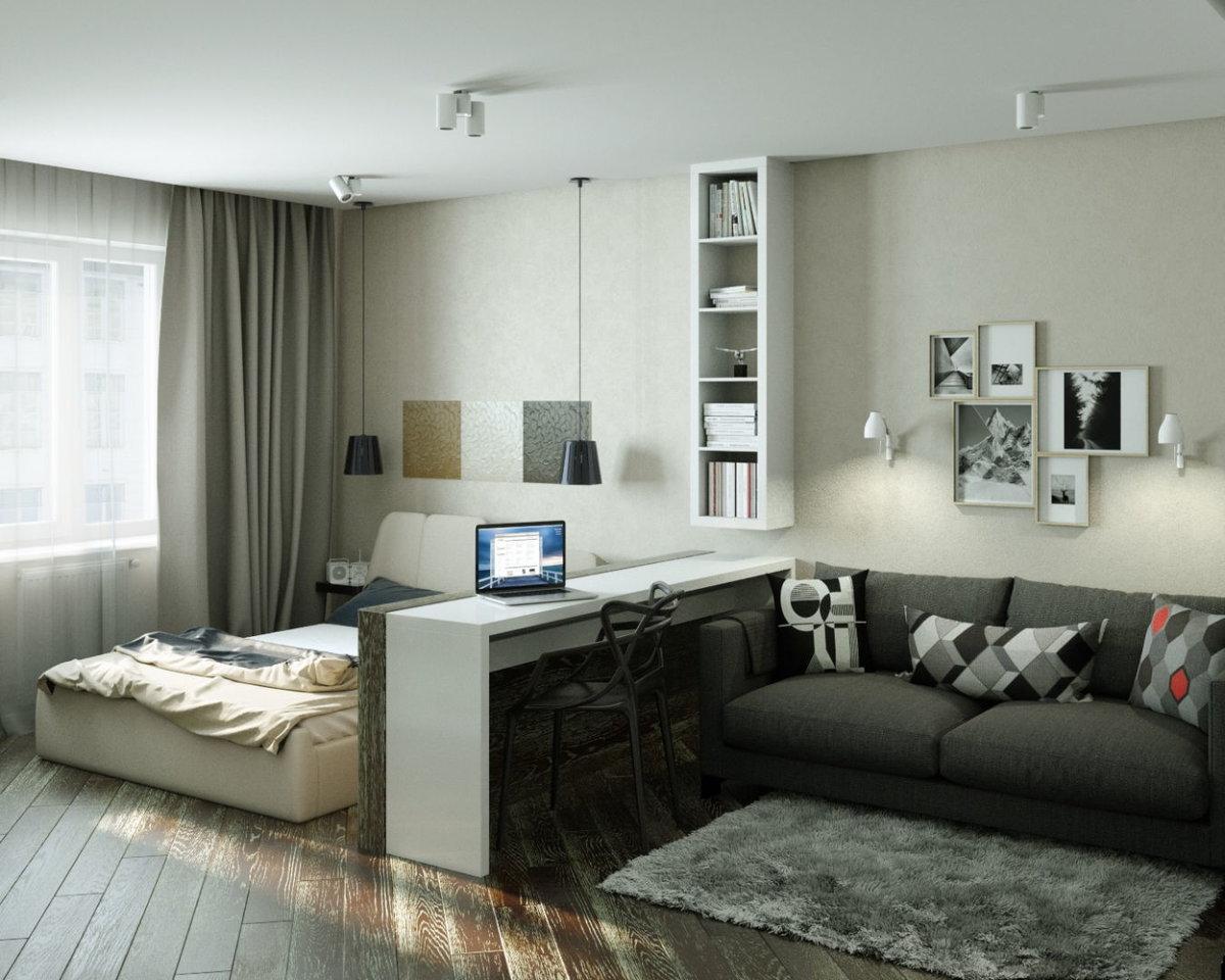 Дизайн однокомнатной квартиры комната картинки