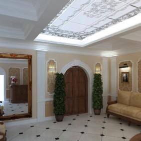 Светодиодная подсветка потолка в холле