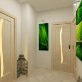 Яркие акценты в коридоре квартиры