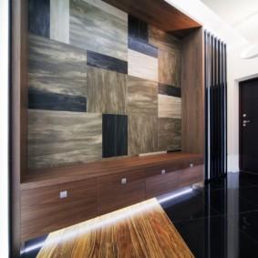 Декор ниши ламинированными панелями