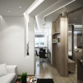 Компактная гостиная в трехкомнатной квартире