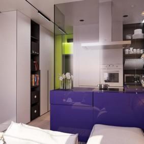 Кухонный полуостров темного цвета