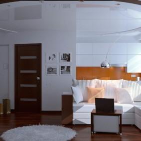 Двухуровневый потолок в однокомнатной квартире