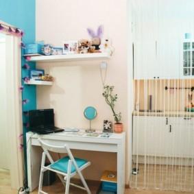 Нитяные занавески в интерьере квартиры