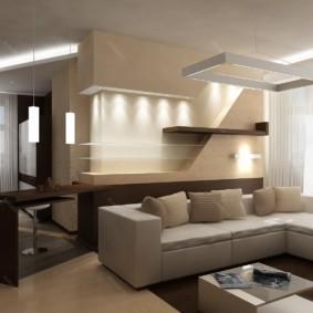 Освещение в квартире студии современного стиля