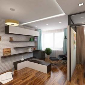 Точечные светильники на двухуровневом потолке