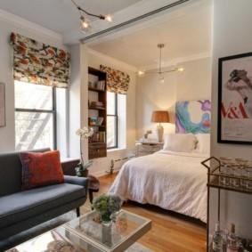 Интерьер квартиры-студии в панельном доме