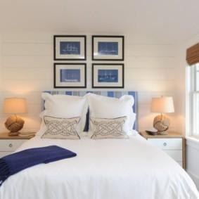 Небольшая спальня в белом цвете