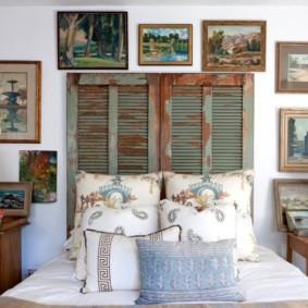 Декор спальни в деревенском стиле