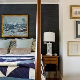 Декор ниши в стене спальни