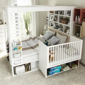 Комбинированная мебель для комнаты с ребенком