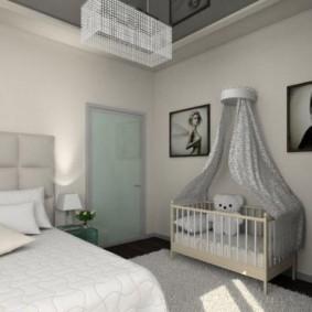Легкий балдахин над детской кроваткой
