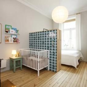 Зонирование мебелья комнаты с ребенком