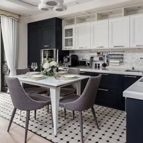 Угловая кухня в стиле арт деко