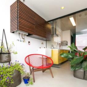 Зимний сад в интерьере кухни