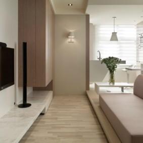 Диван в стиле минимализма в гостиной